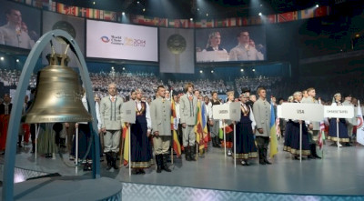 RIGA PASSES THE FLAG OF THE WORLD CHOIR GAMES ON TO SOCHI