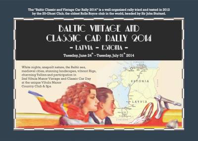 Baltic Vintage and Classic Car Rally 2014